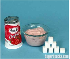 Sugar in yoplait